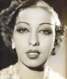 Josephine Baker's panther gaze, recreate it with my Feline Flick and a pop of  Vintage Vamp eyeshadow.