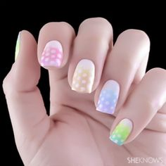 Easter Nail Designs, Easter Nail Art, Ombre Nail Designs, Cool Nail Designs, Awesome Designs, Glitter Nail Art, Nail Art Diy, Diy Nails, Trendy Nails