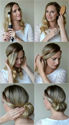 Style Cookbook by Simone: {beauty} hair tutorial by reva Chignon Bun, Diy Hairstyles, Pretty Hairstyles, Bridal Hairstyles, Summer Hairstyles, Hair Affair, Beautiful Long Hair, Hair Dos, Hair Designs