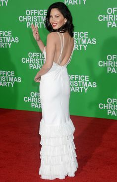 Olivia Munn Office Christmas Party Premiere in Westwood in #jonathansimkhai Lace Crepe Gown! from @stylegoals's closet