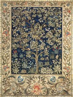 Scarlet Quince cross stitch chart: Garden of Delight - John Henry Dearle - This site has beautiful cross stitch patterns!