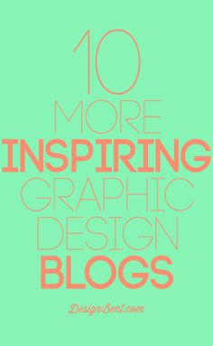 I love, love, love this kind of inspiration...10 More Inspiring Graphic Design Blogs #design #blogging #graphics #fonts