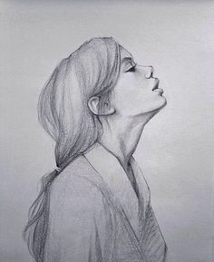 What is Your Painting Style? How do you find your own painting style? What is your painting style? Pencil Drawings Of Flowers, Pencil Art Drawings, Art Drawings Sketches, Realistic Drawings, Cute Drawings, Girl Pencil Drawing, Sketches Of Faces, Illustration Sketches, Easy People Drawings
