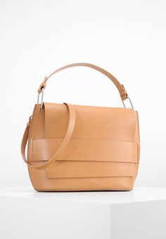 """Zign. Handbag - natural. Compartments:mobile phone pocket. length:14.0 """" (Size One Size). width:5.0 """" (Size One Size). Lining:Cotton. carrying handle:6.0 """" (Size One Size). Outer material:leather. height:9.5 """" (Size One Size)"""