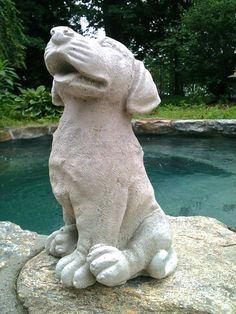 Concrete Dog Statue, Concrete Garden/Home Decor, Concrete Labrador  Retriever, Dog Memorial, Pet Loss Pet Memorial Marker Garden Statue