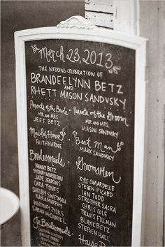 wedding sign ideas- love this person's handwriting