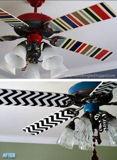 """Sugestão de SilMez/Brasil /⚛ Cara nova para o ventilador com tecido, papel ou pintura!!. Outras idéias no """" Visite""""❣️"""