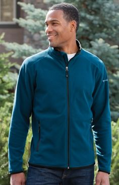 8714f787119 Eddie Bauer EB222 Full Zip Vertical Fleece Jacket