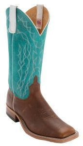Anderson Bean® Men's Briar w/ Turquoise Sinsation Double Welt Square Toe Western Boot | Cavender's