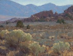 Buttermilk View by Jean LeGassick Oil ~ 11 x 14