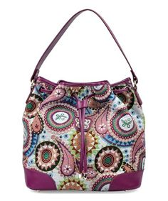 Fricaine Purple Sugar Buxx Exotic Bucket Bag | zulily