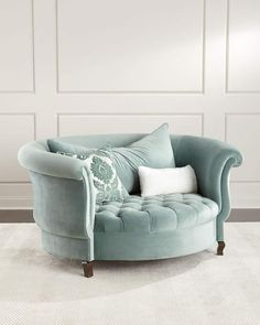 Living Room Decor • Haute House Harlow Sage Cuddle Chair