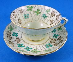 Floral Chintz Border Tuscan Tea Cup and Saucer Set