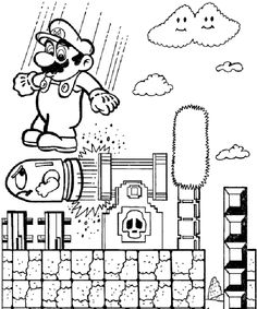 nintendo power Colouring Pages   Classic Video Game Party ...