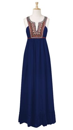 eShakti - Long Beaded Caftan Dress