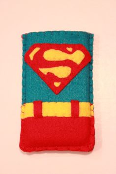 Super Man inspired ipod or iphone case, Halloween Costume, also available for… Felt Phone Cases, Felt Case, Cool Phone Cases, Iphone Cases, Tablet Cases, Pinterest Diy Crafts, Sewing Toys, Felt Crafts, Fiber Art