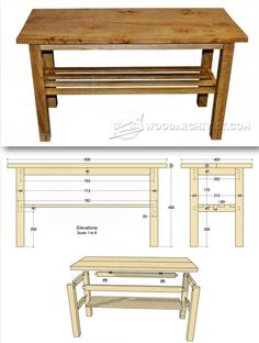 Build Coffee Table - Furniture Plans and Projects | WoodArchivist.com