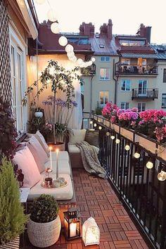Cute and cozy balcony studio inspo balcony bedroom cozy bedroom design cozy bedroom colors Small Balcony Design, Small Balcony Garden, Small Balcony Decor, Balcony Ideas, Small Patio, Patio Ideas, Balcony Grill Design, Diy Patio, Apartment Balcony Garden