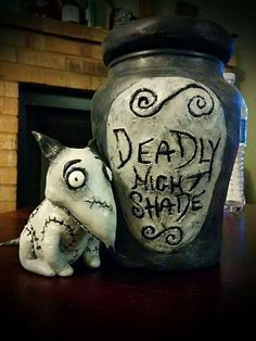 Nightmare Before Christmas- Deadly Night Shade Jar by Lustuad on deviantART