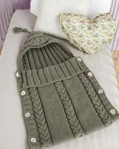 Saco bebe: Crochet For Baby, Baby Sleep Sack, Knitted Baby Cocoon, Baby