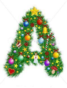 stock-vector-letter-a-christmas-tree-decoration-alphabet-6991009.jpg (360×470)