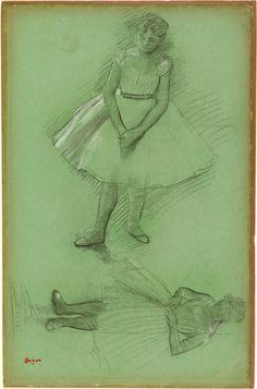 Edgar Degas | 1834-1917 | Two Studies of Dancers | The Morgan Library & Museum