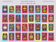 Printable images, place in frames to set the scene at your Wonka themed party. Perfect for your Charlie and the Chocolate Factory party, Willy Wonka birthday party or baby shower. Choose your favorite Willy Wonka quotes/word images. Wonka Chocolate, Chocolate Factory, Willy Wonka Quotes, Looks Quotes, Party Kit, Party Ideas, Birthday Party Decorations Diy, Printable Quotes, Picture Quotes