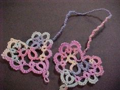 3 Tatted Heart to Heart Bookmarks   By Dove Country Tatting.