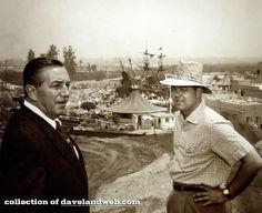Walt during construction of Fantasyland, 1955