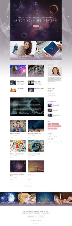 Geminiz - Astrology Blog WordPress Theme WordPress Theme