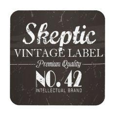 Skeptic Brand Vintage Apparel Coaster