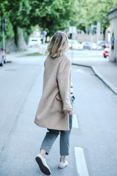 tifmys – Forever 21 coat, Zara striped shirt, Massimo Dutti pants & Converse Chucks.