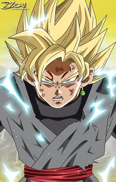 Black Goku Super Sayian by zika-arts Beyblade Characters, Anime Characters, Dragon Ball Z, Dbz, Goku Black Ssj, Foto Do Goku, Evil Goku, Zamasu Black, Otaku