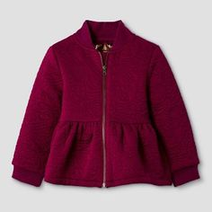Baby Girls' Peplum Bomber Jacket - Red - Genuine Kids from Oshkosh™