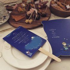 【席札 & Menu】シンデレラ風 Pumpkin carriage うちわタイプ | HATTI Wedding Shop