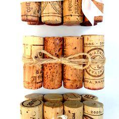 Rustic Wedding Table Number Holder, Featuring 8 Vintage Corks