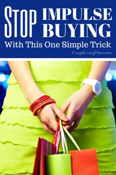 Stop Impulse Buying With This One Trick: Wouldn't it be nice to just spend money as if it didn't matter?  I would LOVE to walk in to a store sometimes and just buy my favorite outfit, never looking at the price tag.  But that is not something many of can do, so we have to think about living within a budget. It can be intimidating to say the least, you know where your money is going and to whom, but how can you live with what is left over? Will you have enough