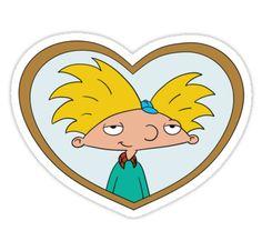 'Hey Arnold' Sticker by ArtbyMeganBrock Cartoon Stickers, Tumblr Stickers, Love Stickers, Sleeping Lion, Garfield Cat, Hey Arnold, 90s Cartoons, We Bare Bears, Rugrats