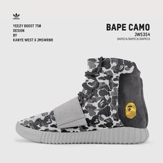 828b3474e Shoes · Kanye West x James Warner custom -Adidas Yeezy 750 boost x Bape  Yeezy 750