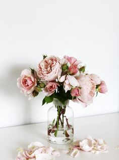 You just can't beat a beautiful vase of garden roses