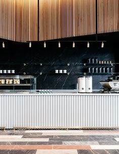 Studio Tate points to old treasures with coffee shop for Commonwealth Bank of Australia - Haus Dekoration ideen 2018 - Travel & Restaurants Cafe Bar, Cafe Restaurant, Restaurant Design, Café Design, Design Studio, Design Ideas, Commercial Design, Commercial Interiors, Cafe Counter