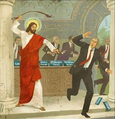 So he (Jesus) made a whip out of cords, and drove all from the temple courts, both sheep and cattle; he scattered the coins of the money changers and overturned their tables. Cleansing Of The Temple, Bible Verse For Today, What Would Jesus Do, Why Jesus, Black Jesus, Illustrations, Religious Art, Religious Humor, Religious People