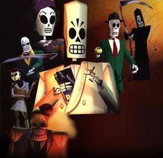 Grim Fandango - game featuring Mexican sugar skulls.  Lots of Art Deco, film noir fun. :)