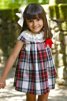 For fall . Little Girl Dresses, Girls Dresses, Tartan Fashion, Diy Bebe, Inspiration Mode, My Baby Girl, Winter Dresses, Kind Mode, Baby Dress