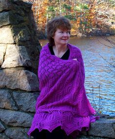 Ravelry: Shawl of Falling Leaves and Shooting Stars pattern by Kathleen Valentine