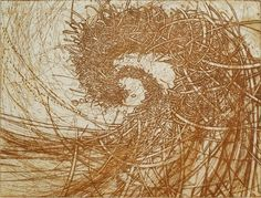 HAYASHI Takahiko  Title/ Weaving Winds into the cloud (150)  Size/ 45.4x59.8cm(image size)  Technique/ etching chine colle'