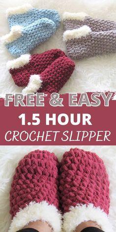 Easy Crochet Slippers, Crochet Slipper Boots, Crochet Socks Pattern, Crochet Shoes, Crochet Clothes, Crochet Patterns, Crotchet Socks, Baby Slippers, Slipper Socks
