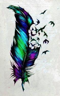 1 feather tattoo ideas #FeatherTattooIdeas