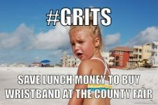 rollers, being a girl, billy graham, lunches, grits