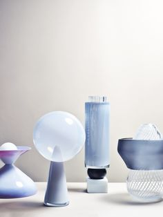 Combining centuries-old Murano glass with a kind of icy, sci-fi geometry, Giorgia Zanellato's latest collection aims to showcase the magic of the material. Venetian Glass, Murano Glass, Glass Vase, Glass Art Design, Id Design, Room Accessories, Decorative Accessories, Wabi Sabi, Glass Molds